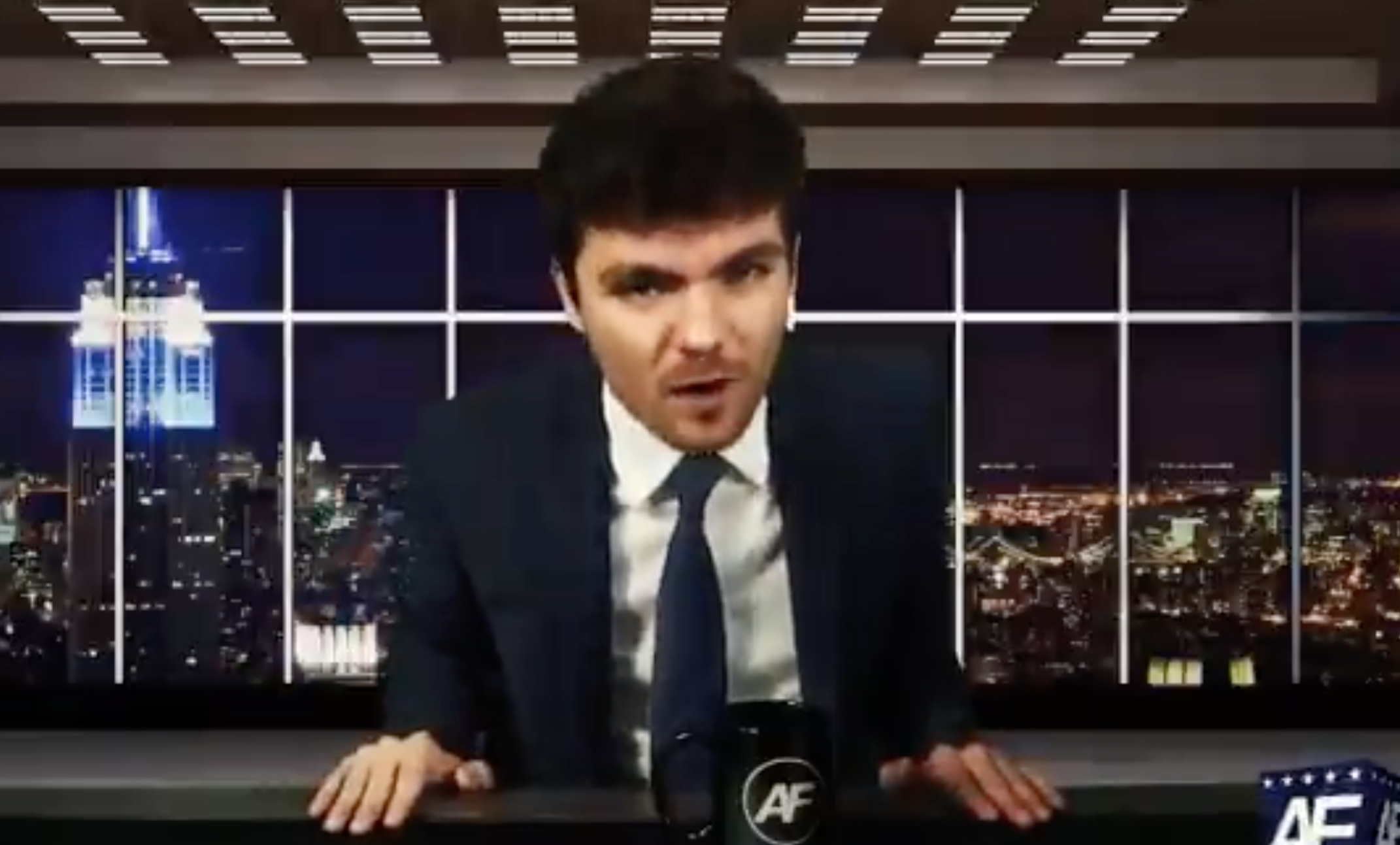 """Screenshot from a video of Nick Fuentes, a white nationalist who said """"Palestine isn't the only country under Israeli occupation"""" on Twitter last week."""