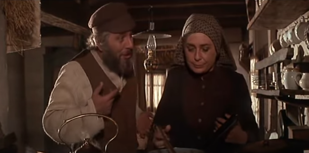 """Tevye and Golde sing """"Do You Love Me?"""" in """"Fiddler on the Roof."""""""
