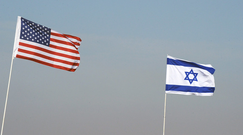 American and Israeli flags during routine joint military exercises in 2009. (Photo/Flickr-Israel Defense Forces CC BY-NC 2.0)