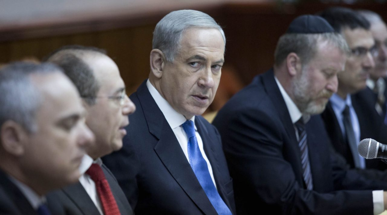 Israeli Prime Minister Benjamin Netanyahu at a weekly cabinet meeting in Jerusalem, July 14, 2013. (Photo/JTA-Abir Sultan-Pool-Getty Images)