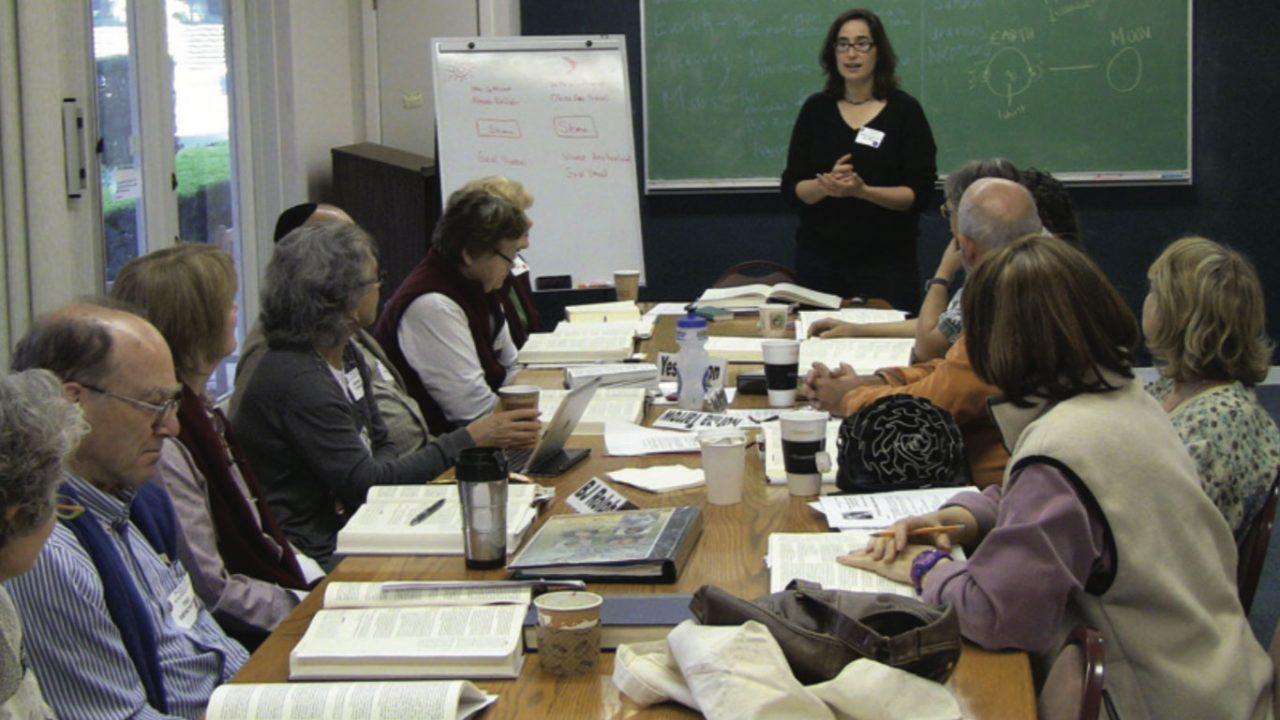 Rabbi Dorothy Richman teaches a Talmud course in 2013 offered through HaMaqom (then called Lehrhaus Judaica), which has announced it will close at the end of its 2021 summer term. (Photo/File)