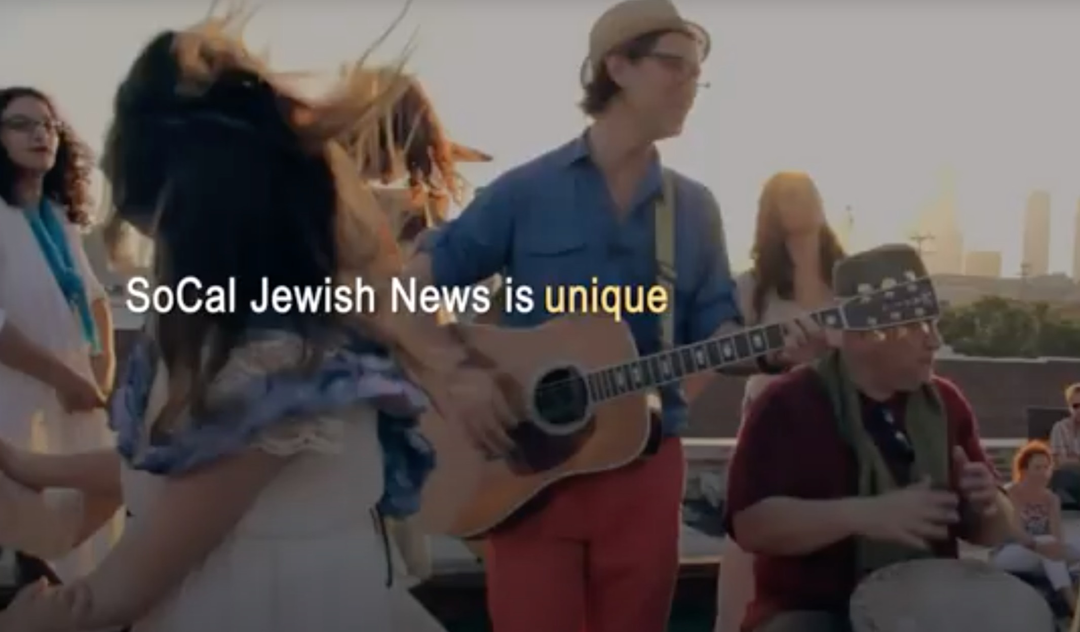 Screenshot from SoCal Jewish News promotional video.