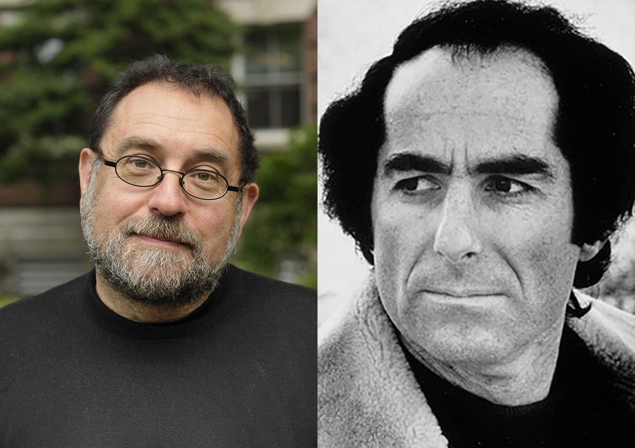 Stanford professor Steven Zipperstein (left) is working on a biography of Philip Roth (right).