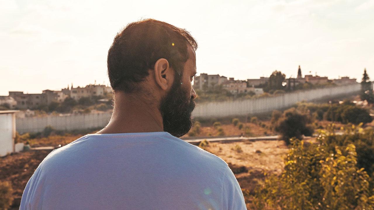 """Ali Suliman as Mustafa in """"200 Meters."""""""