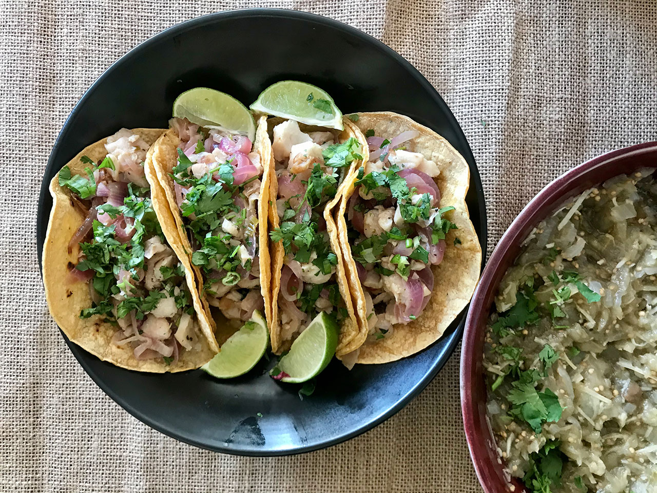 Corn Tortillas with Fish and Vegetables (Photo/Faith Kramer)