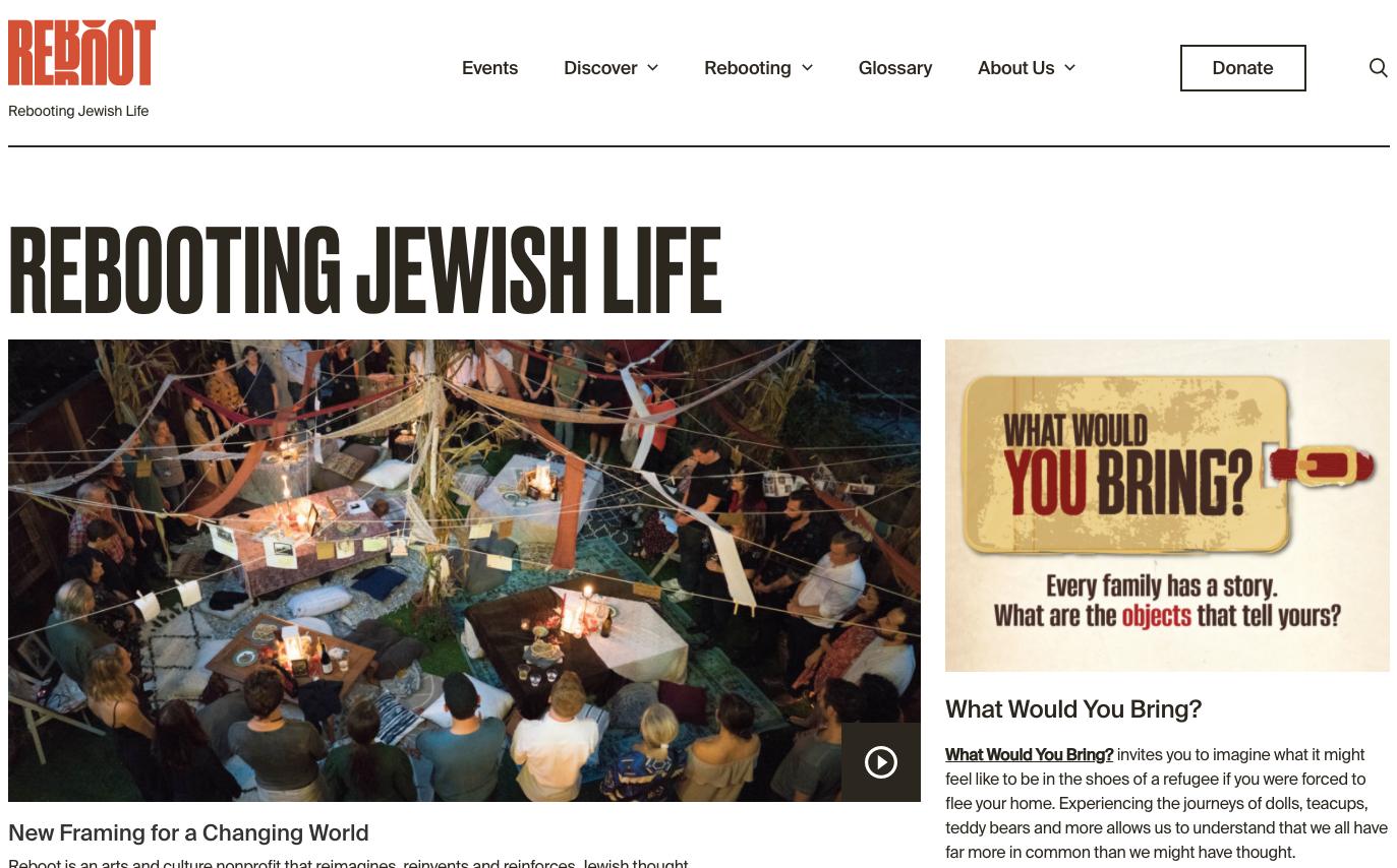 Screenshot of the new rebooting.com