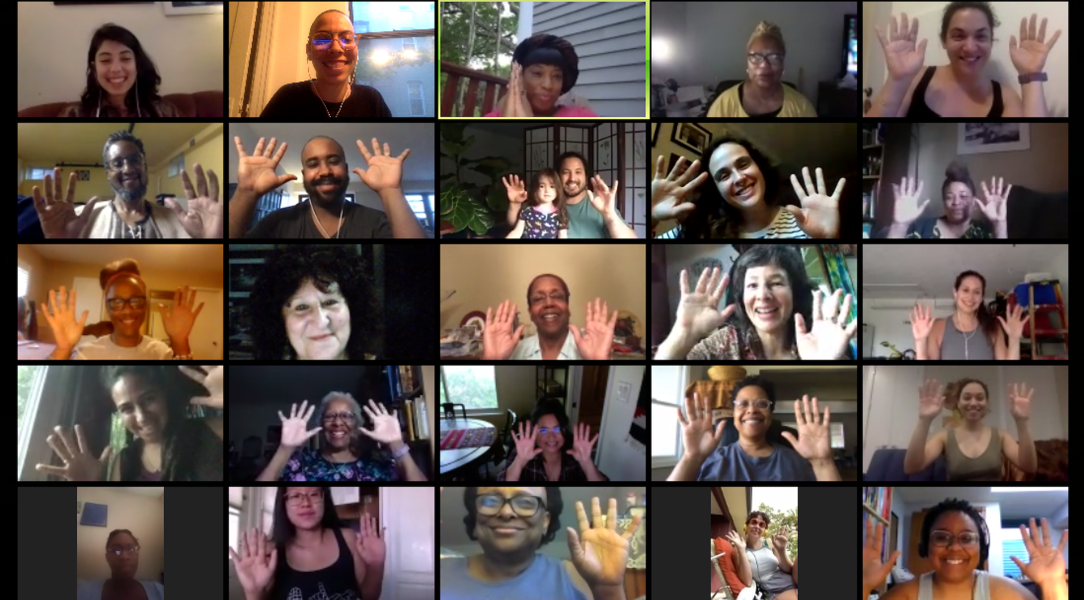 Learners take part in a Zoom gathering of Ammud, the Jews of Color Torah Academy. (Screenshot/Jews of Color Initiative)
