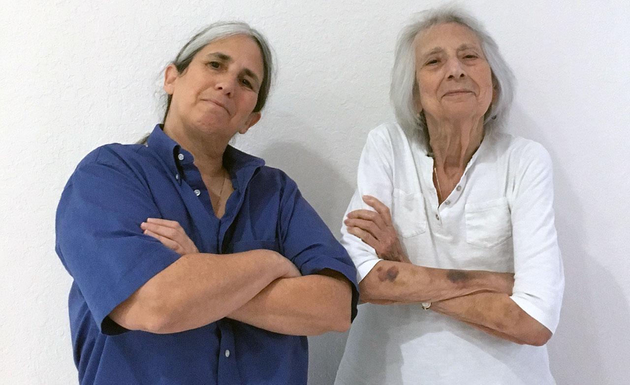 Lisa Geduldig and her mom, Arline, in Boynton Beach, Florida. (Photo/Wanda Altidor)