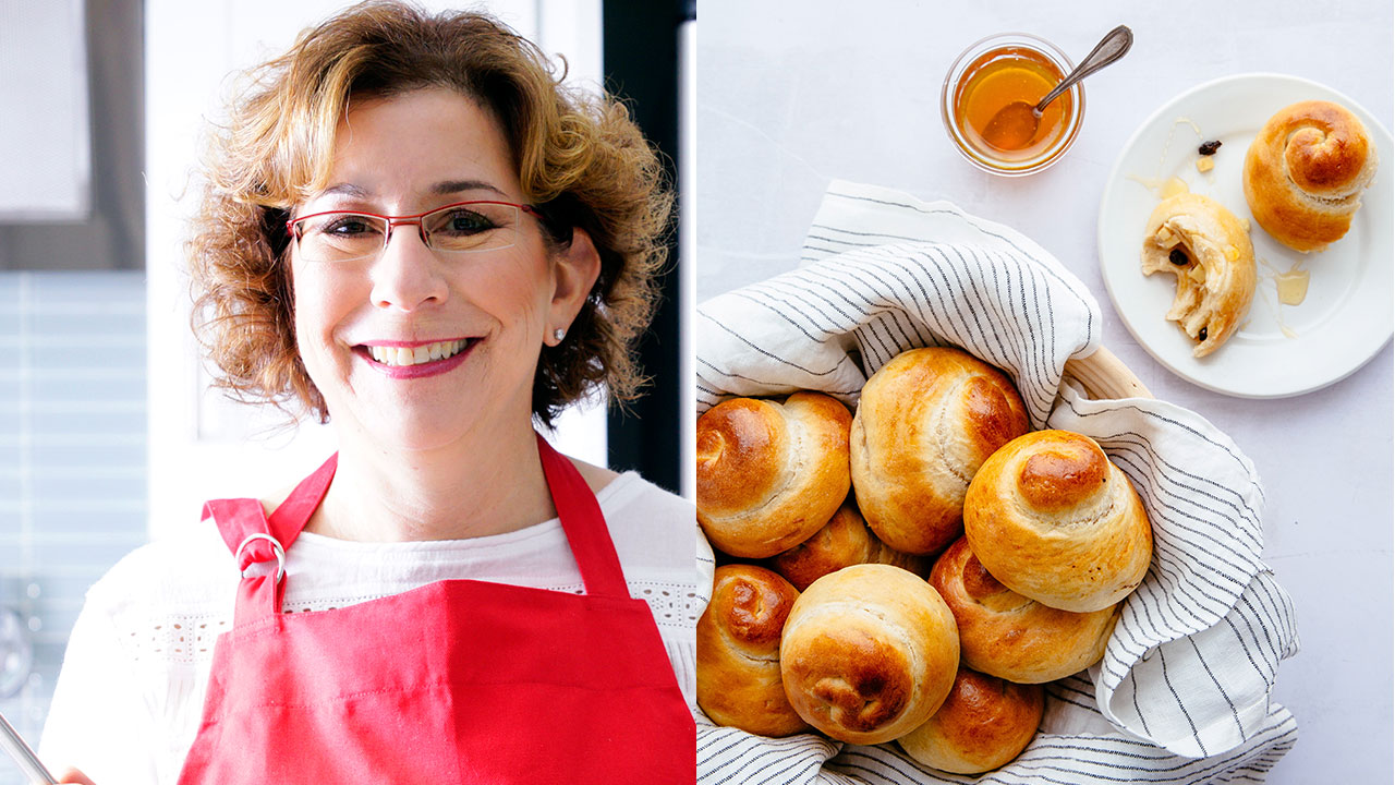 Among the Rosh Hashanah recipes in Beth Lee's new cookbook: Sweet Challah Rolls with Apple Currant Filling.