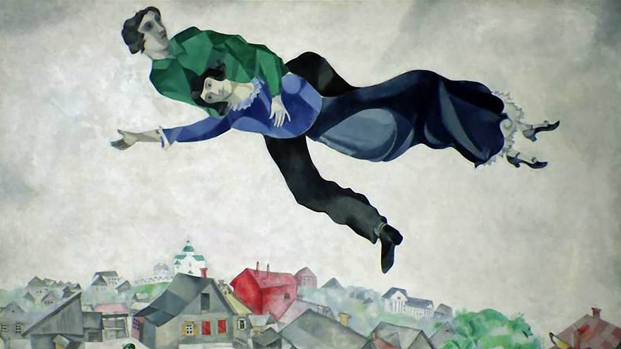 """""""Over the Town"""" by Marc Chagall."""
