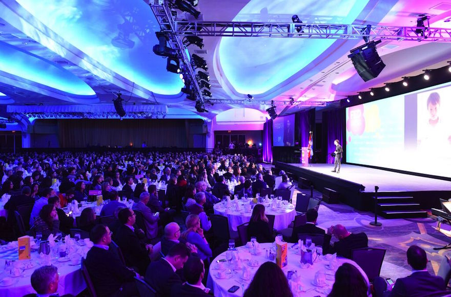A view of the crowd at the Jewish Federations of North America General Assembly, Nov. 10, 2015. (Photo/JTA-JFNA)