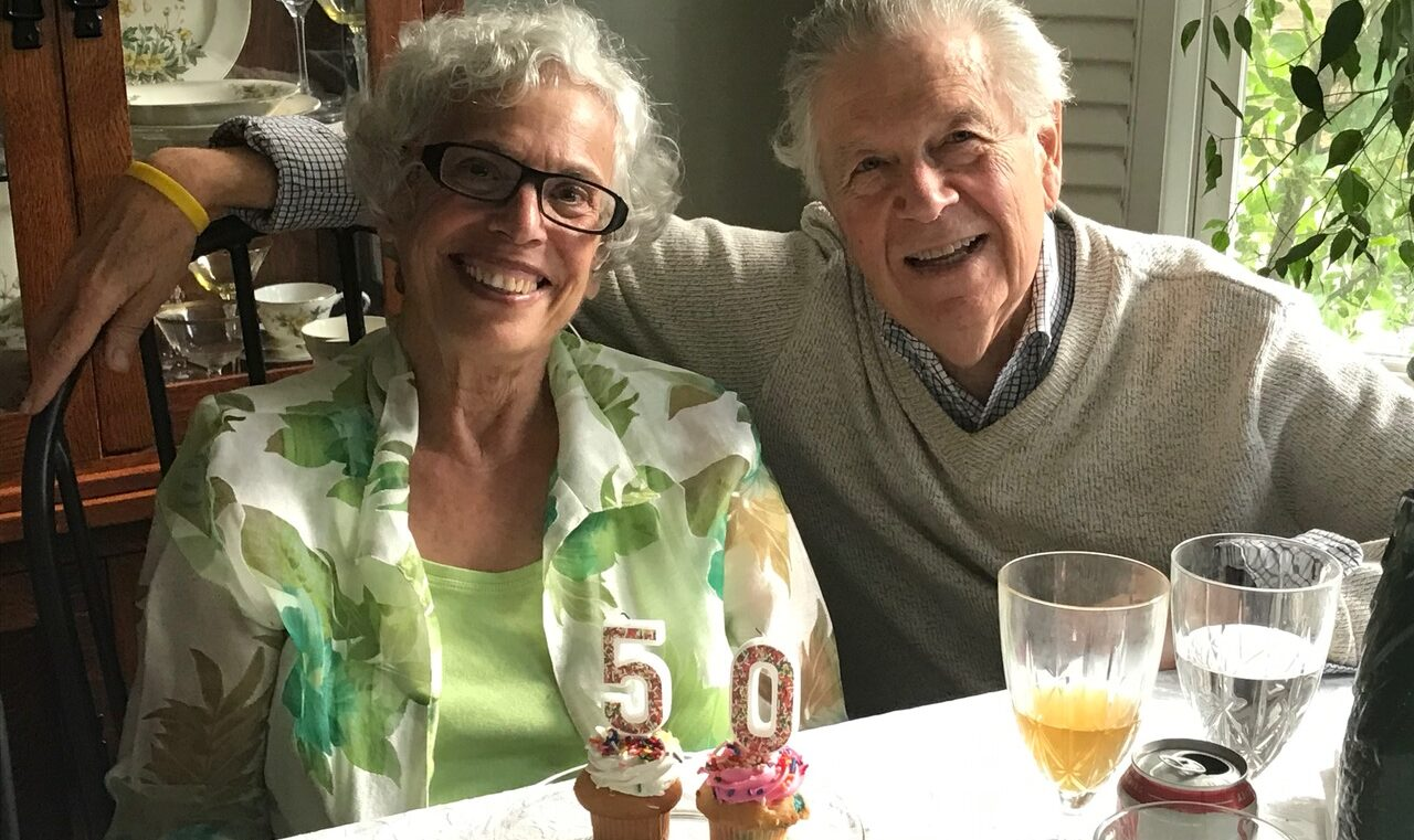 Happy anniversary to Pamela and Nelson Heller!
