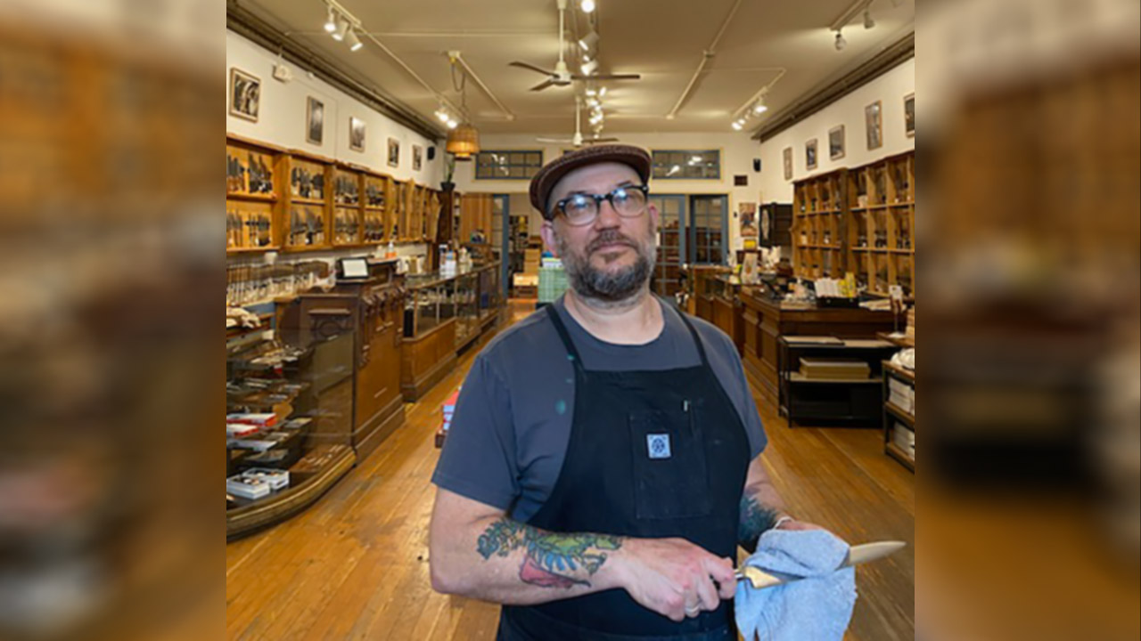 Josh Donald is co-owner of Bernal Cutlery, the only place in the Bay Area certified to sharpen knives for use in kosher kitchens.