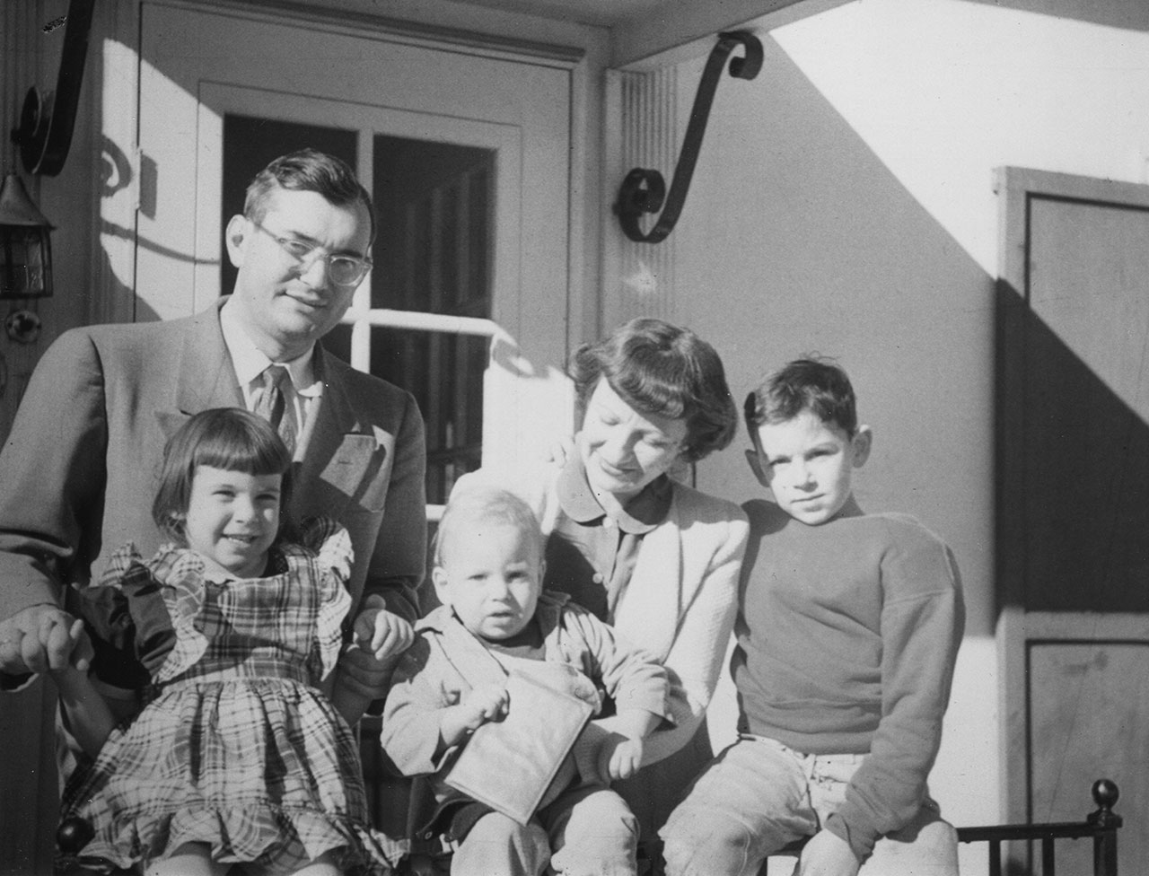 The author (on his mother's lap) with the family in Lexington, Kentucky, in 1948.