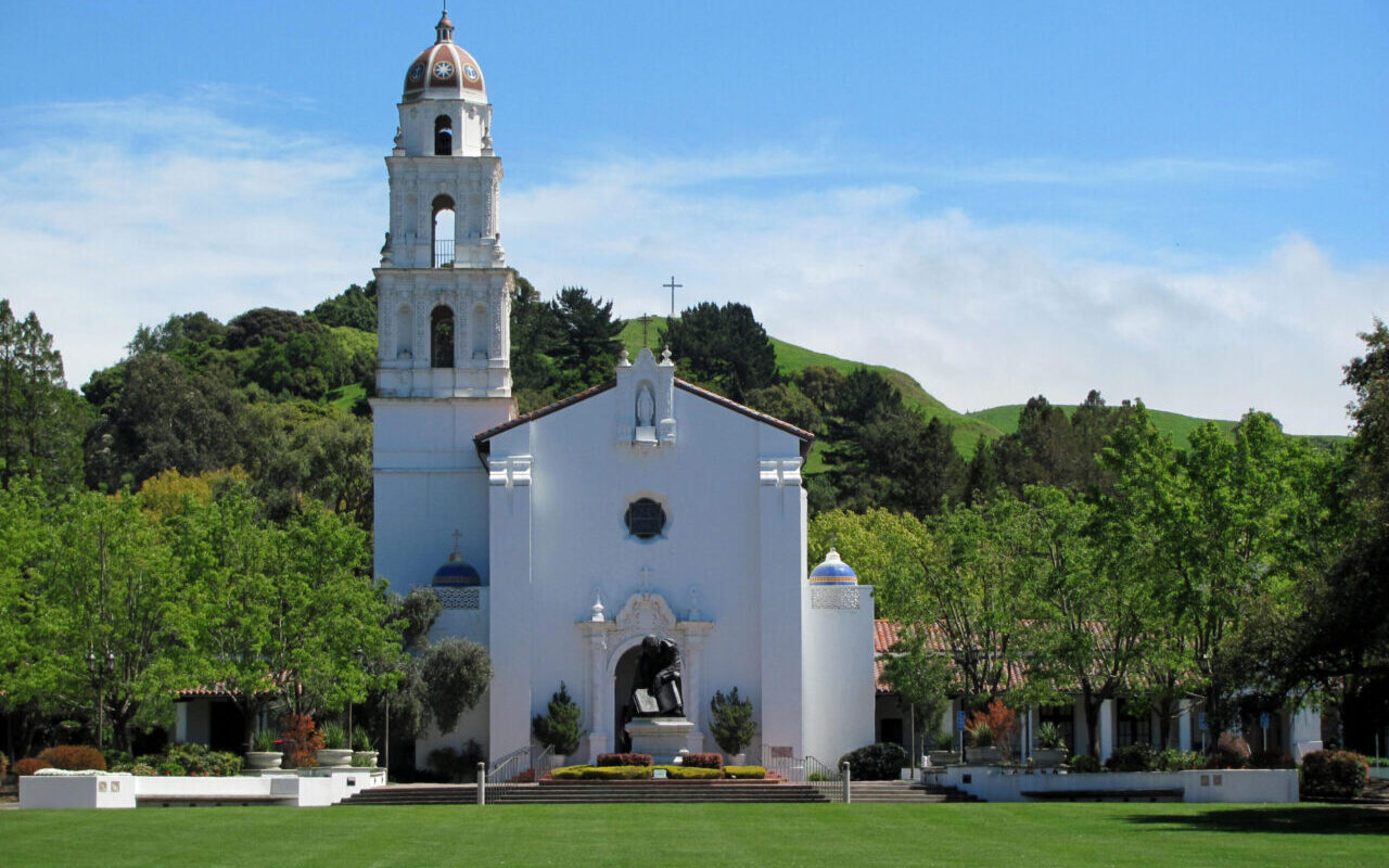 The chapel at St. Mary's College in Moraga