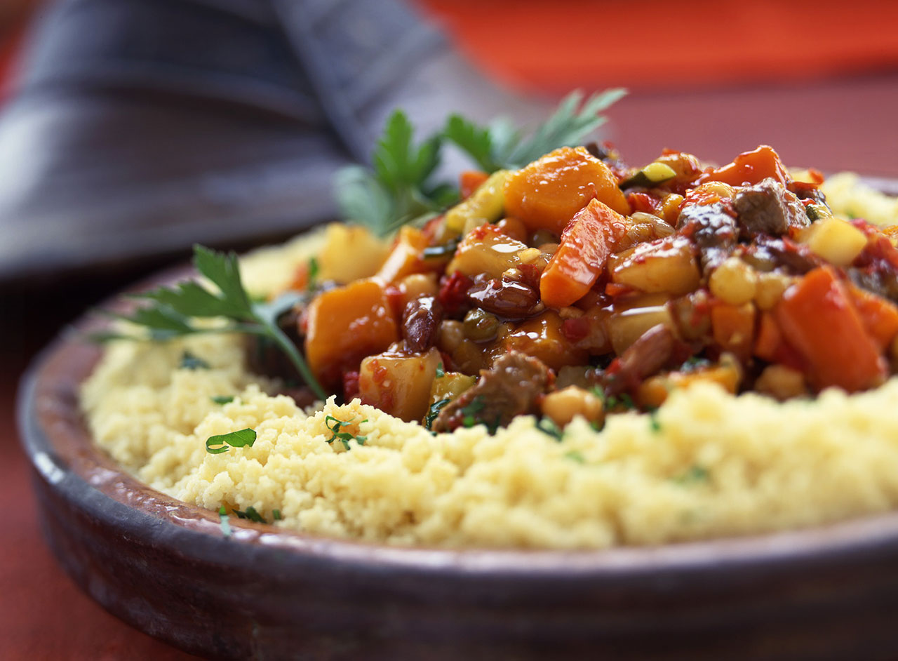 Moroccan Vegetable Tagine served with couscous. (Photo/Leigh Beisch)