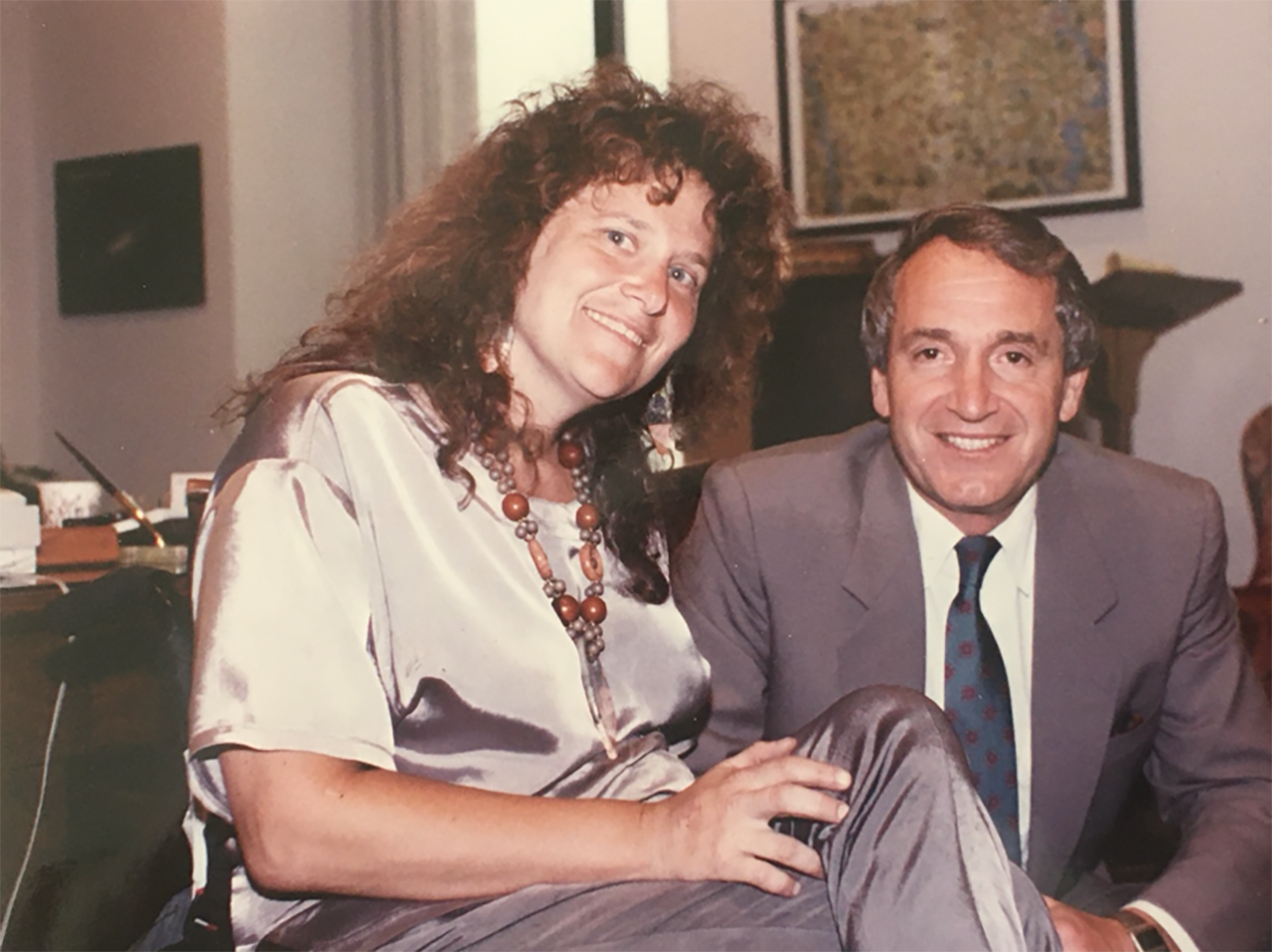 Marilyn Golden with Sen. Tom Harkin during her lobbying efforts for the American with Disabilities Act.