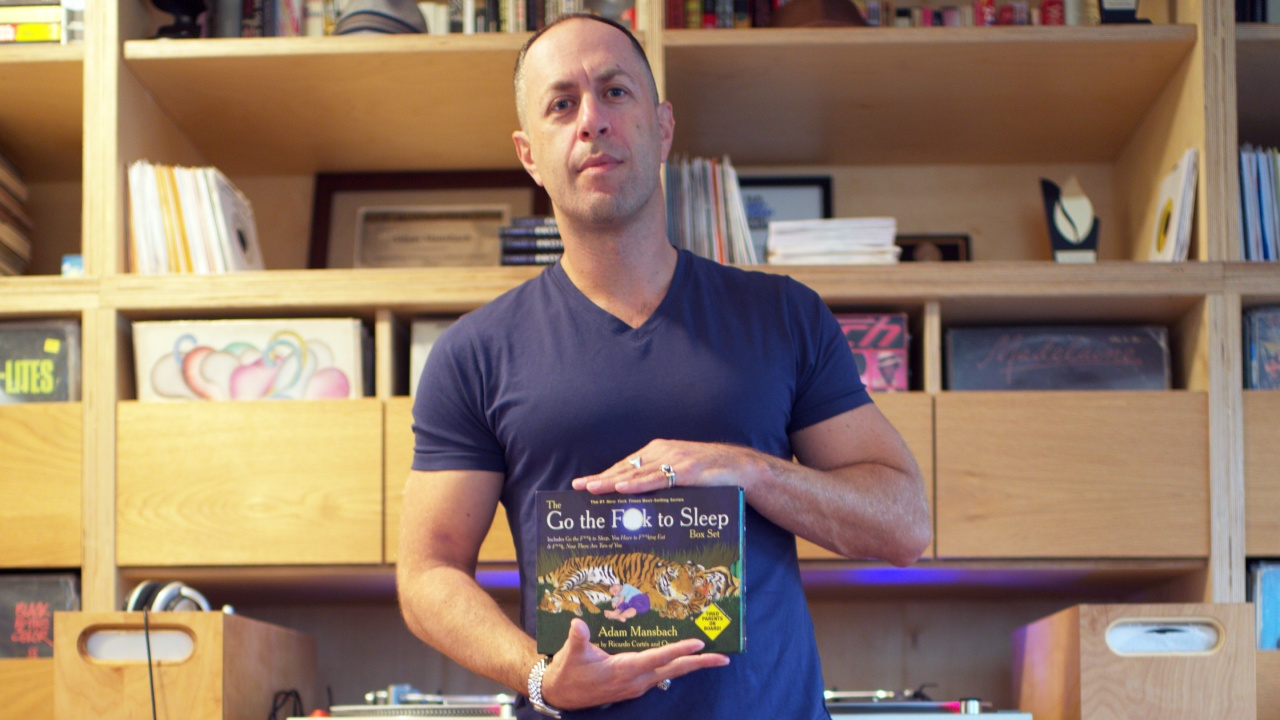 """Adam Mansbach, the very busy author best known for his not-for-children children's book """"Go the Fuck to Sleep."""" (Photo/George Barahona)"""