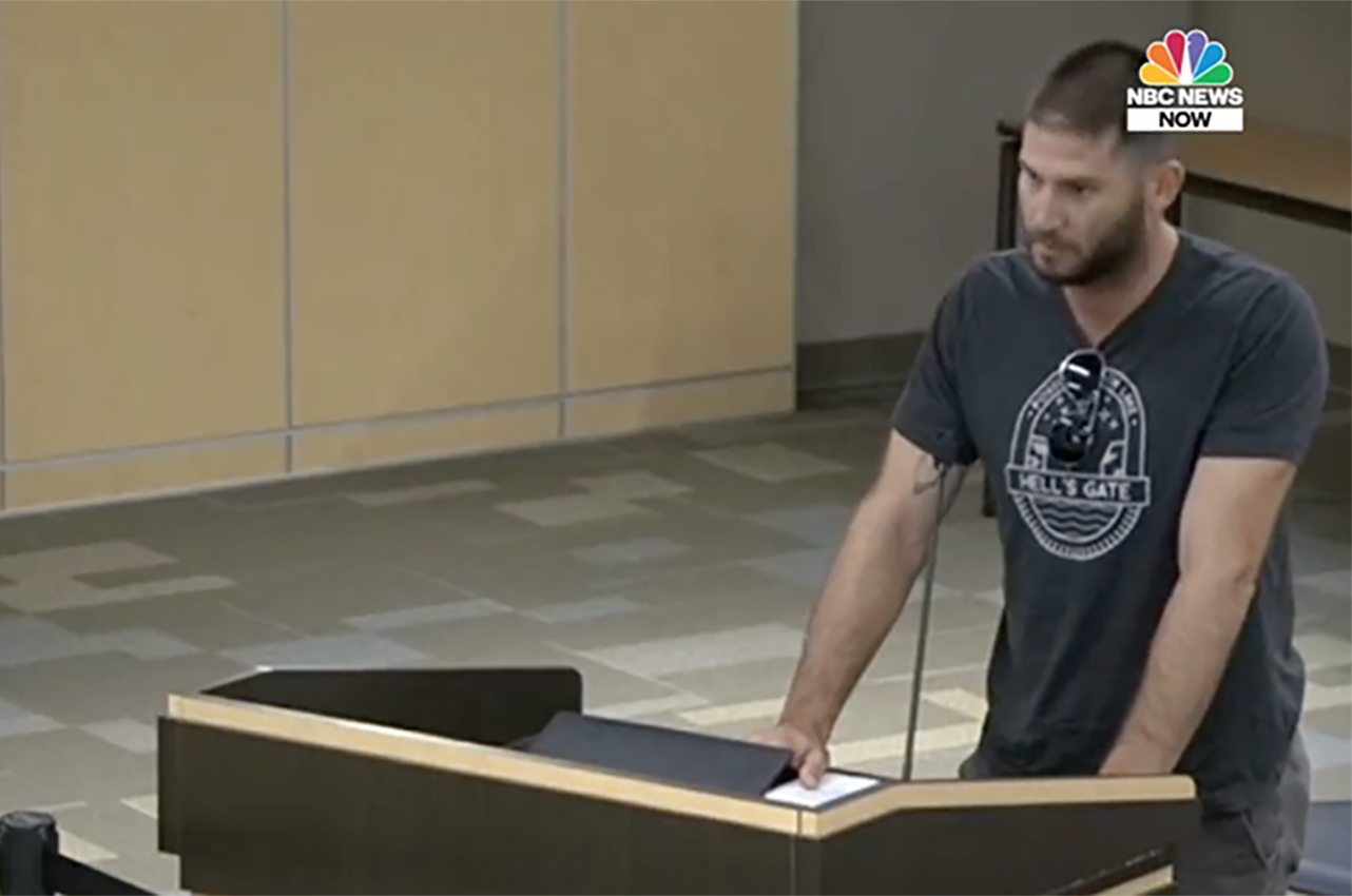 Jake Berman, a Jewish former student, speaks at a school board meeting in Southlake, Texas on Oct. 18, 2021. (Screenshot)