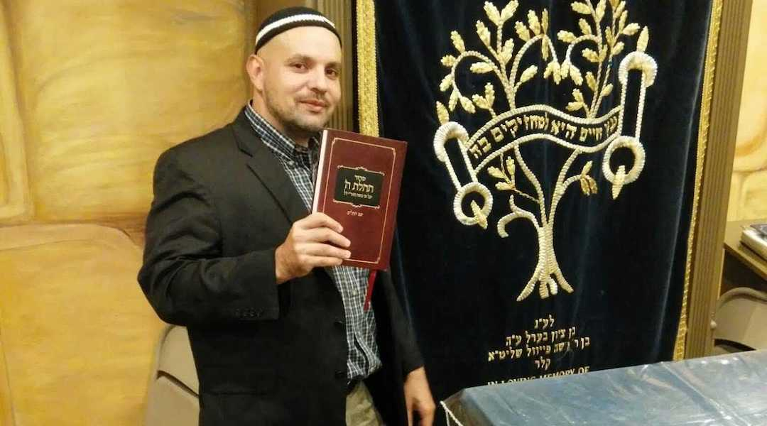 Rabbi Asher Meza, in addition to supporting anti-vaccine activists, has bucked the wider Orthodox community in other ways. (Photo/JTA-Courtesy Meza)