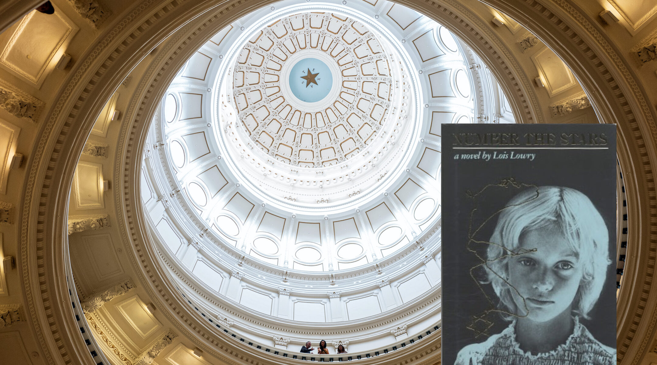"""The Texas State Capitol rotunda. Teachers in a Texas school district wondered whether """"Number the Stars,"""" a Holocaust novel, would require an """"opposing"""" perspective under the terms of a new education law there. (Photo/JTA-Tamir Kalifa-Getty Images)"""