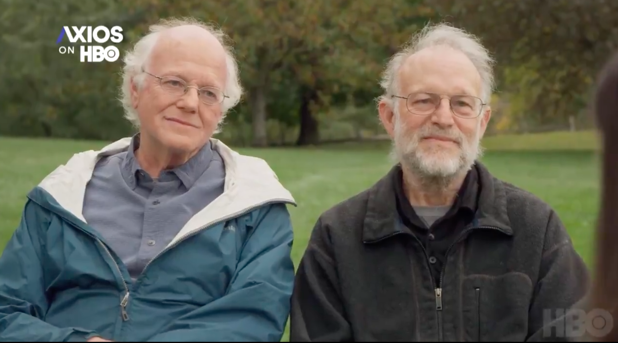 Ben Cohen and Jerry Greenfield, who founded Ben & Jerry's in 1978, spoke about the company's decision to stop selling ice cream in the West Bank in an interview with Axios released Sunday. (Screenshot)
